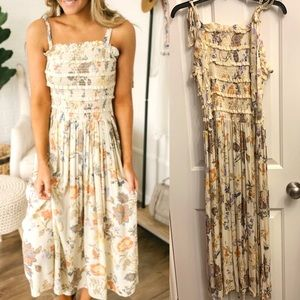Free People Isla Midi Dress NWT